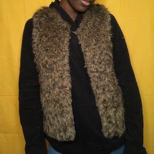 Women's Brown Fur Vest